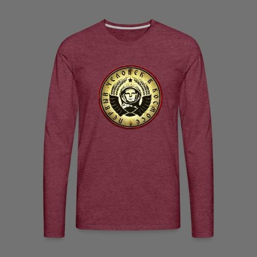 Kosmonautti 4c retro (oldstyle) - Miesten premium pitkähihainen t-paita