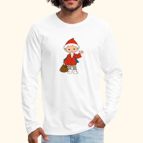 Sandmännchen winkt - Männer Premium Langarmshirt