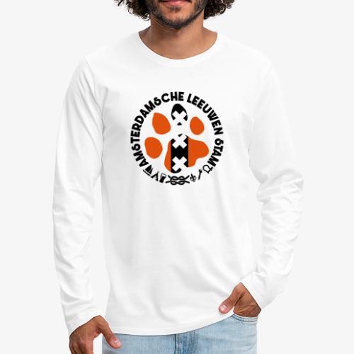 ALS witte rand licht - Mannen Premium shirt met lange mouwen