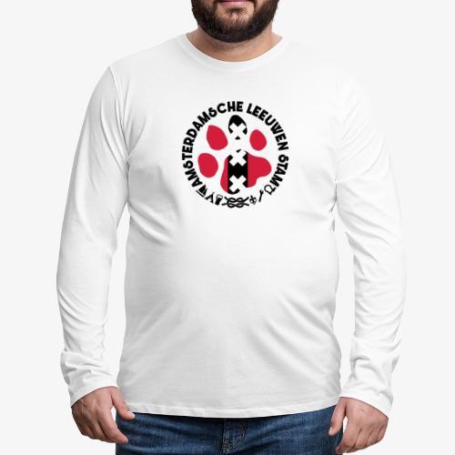 ALS witte cirkel lichtshi - Mannen Premium shirt met lange mouwen