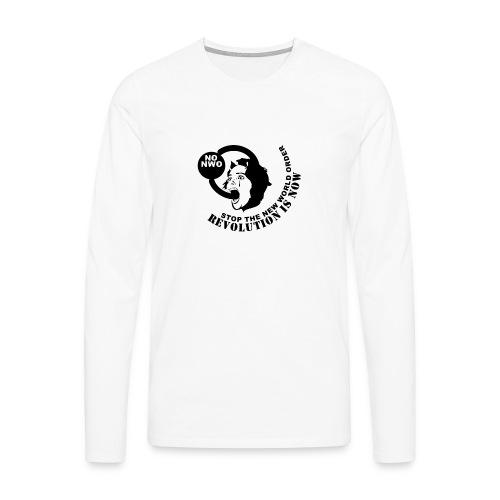 Stop NWO - Männer Premium Langarmshirt
