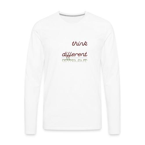 thinkdifferent - Männer Premium Langarmshirt