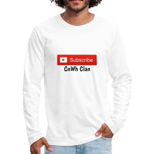 Subscribe CnWh Clan Merch - Långärmad premium-T-shirt herr