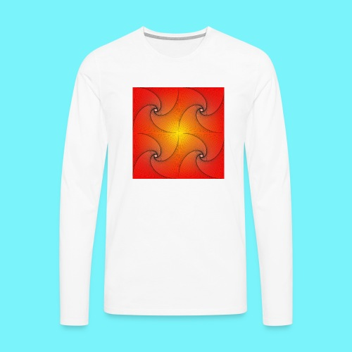 Pursuit curve in red and yellow - Men's Premium Longsleeve Shirt