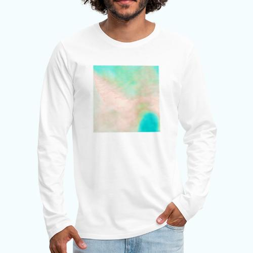 Atoll beach watercolor beige nature - Men's Premium Longsleeve Shirt