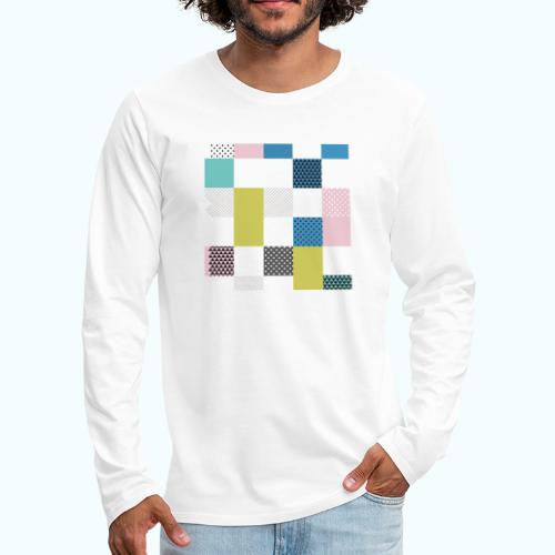 Abstract art squares - Men's Premium Longsleeve Shirt