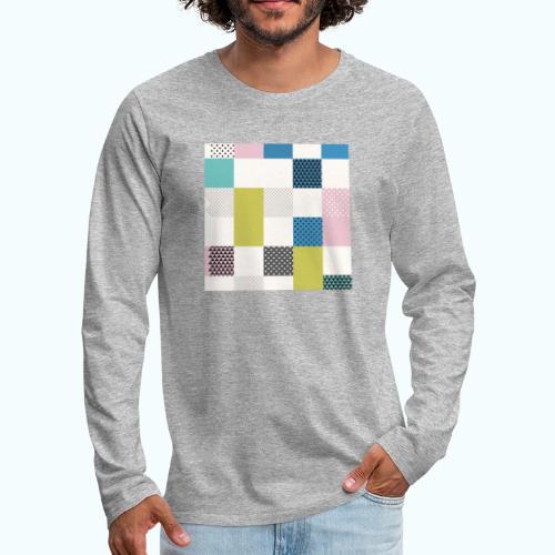 Abstract art squares - Men's Premium Longsleeve Shirt