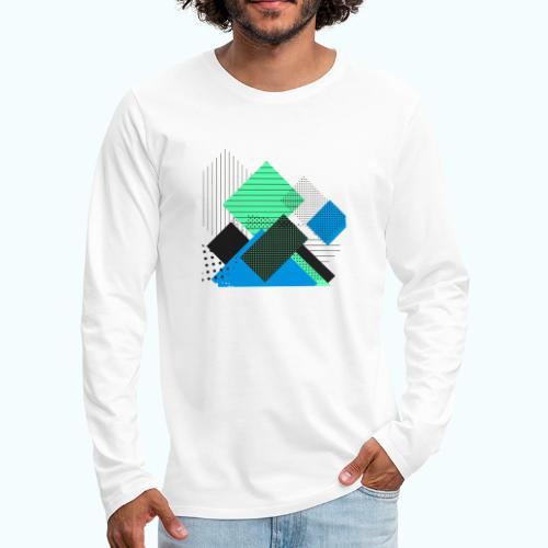 Abstract rectangles pastel - Men's Premium Longsleeve Shirt