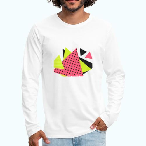Neon geometry shapes - Men's Premium Longsleeve Shirt