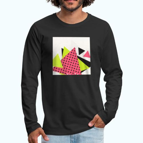 Neon geometry shapes - Men's Premium Longsleeve Shirt