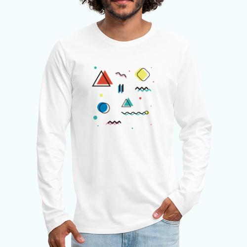 Abstract geometry - Men's Premium Longsleeve Shirt