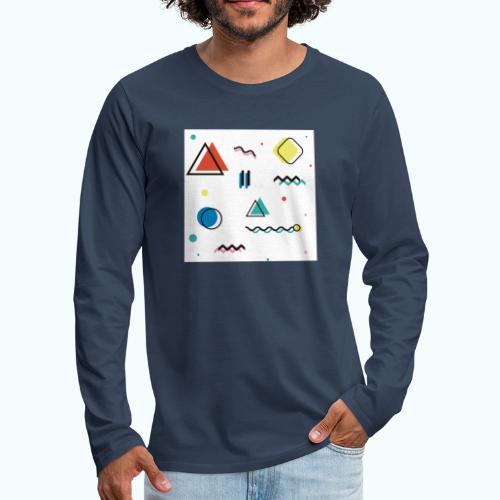 Abstract geometry - Men's Premium Longsleeve Shirt