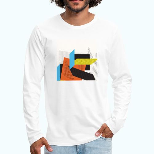 Vintage shapes abstract - Men's Premium Longsleeve Shirt