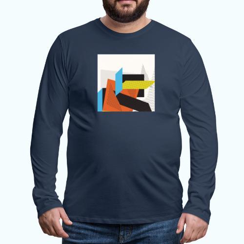 Vintage shapes abstract - Men's Premium Longsleeve Shirt