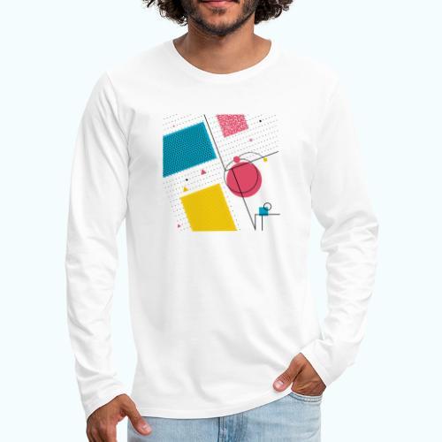 Colors shapes abstract - Men's Premium Longsleeve Shirt