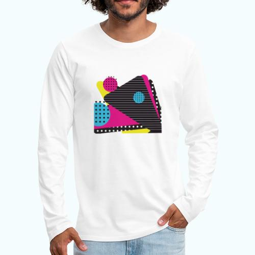 Abstract vintage shapes pink - Men's Premium Longsleeve Shirt