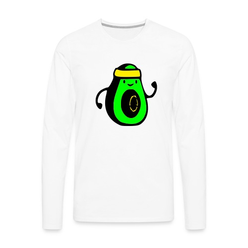 aguacate ninja - Camiseta de manga larga premium hombre