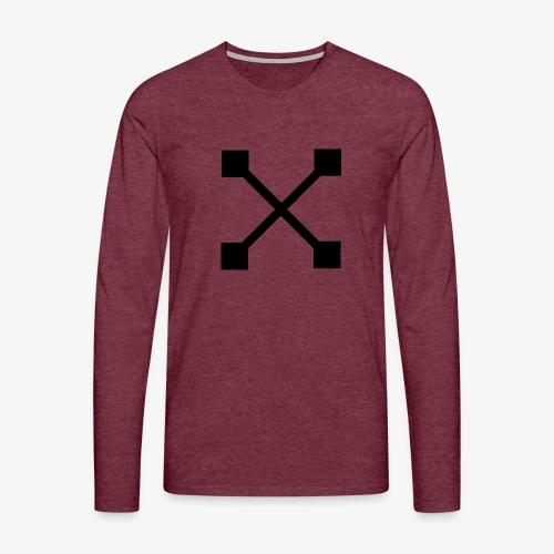 X BLK - Männer Premium Langarmshirt