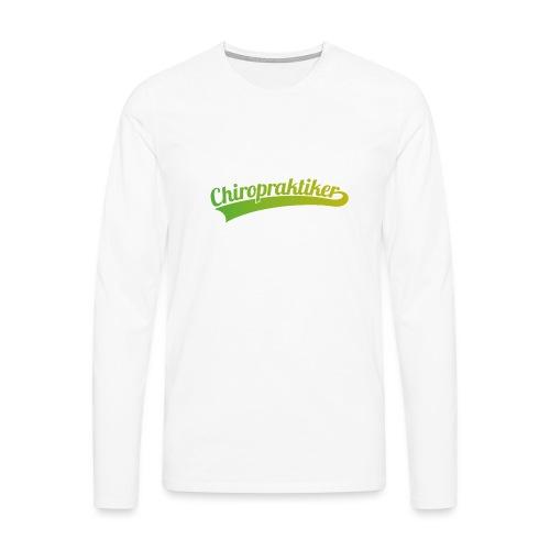 Chiropraktiker (DR12) - Männer Premium Langarmshirt