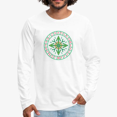Runen - Kreis des Lebens - Männer Premium Langarmshirt