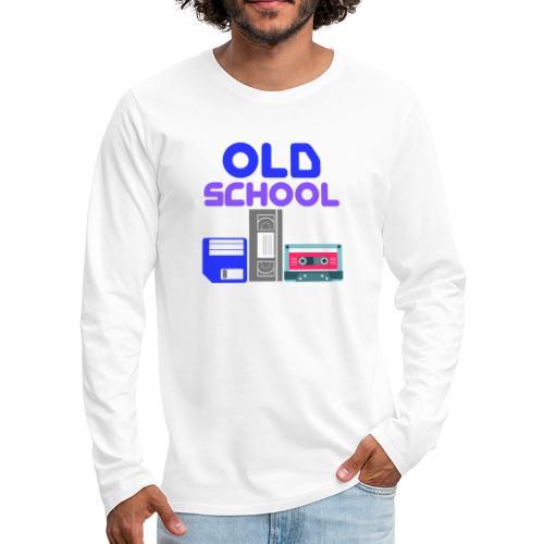OLD SCHOOL ( Coloured text ) - Men's Premium Longsleeve Shirt