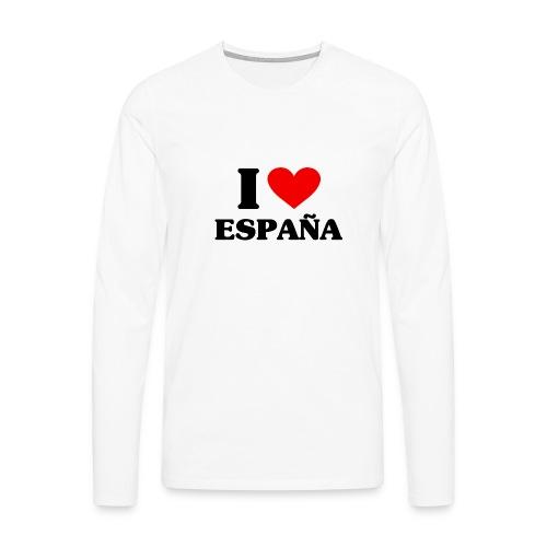 I love Espana - Männer Premium Langarmshirt