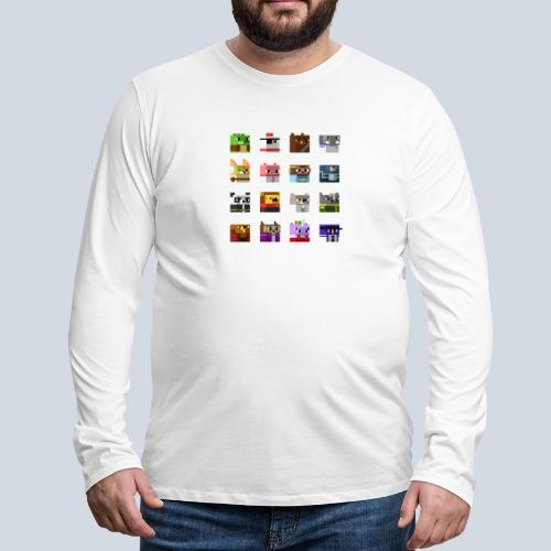 A Planet of Mine Animals - T-shirt manches longues Premium Homme