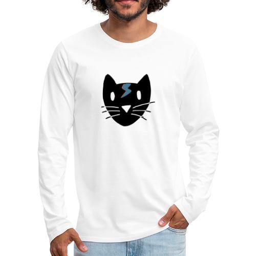 Bowie Cat - Männer Premium Langarmshirt