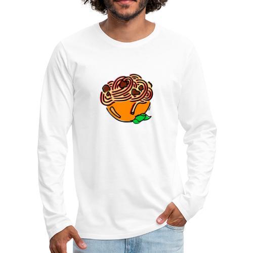 Schüssel Spaghetti - Männer Premium Langarmshirt