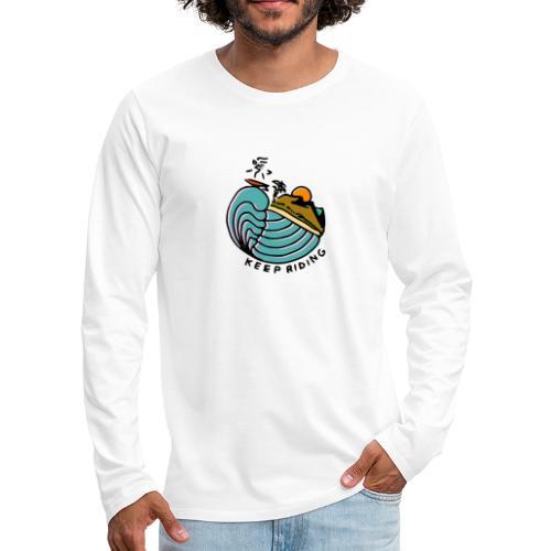 Surfer im Sonnenuntergang - Männer Premium Langarmshirt