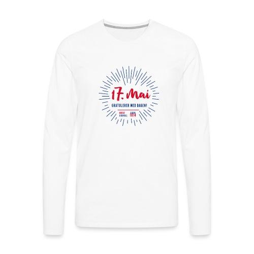 17. mai T-skjorte - Det norske plagg - Premium langermet T-skjorte for menn