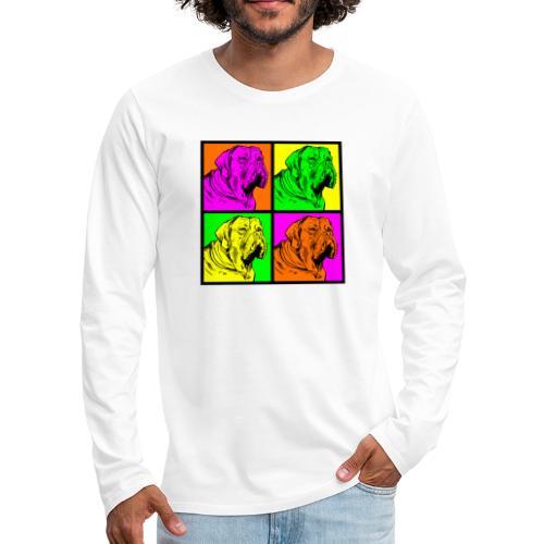 Bouledogue Anglais Couleur - T-shirt manches longues Premium Homme