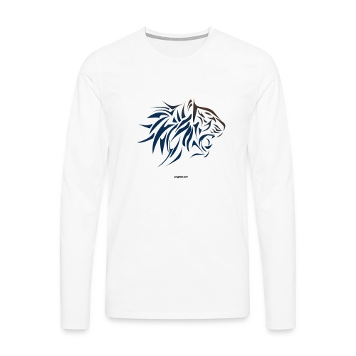 tiger vector - Camiseta de manga larga premium hombre