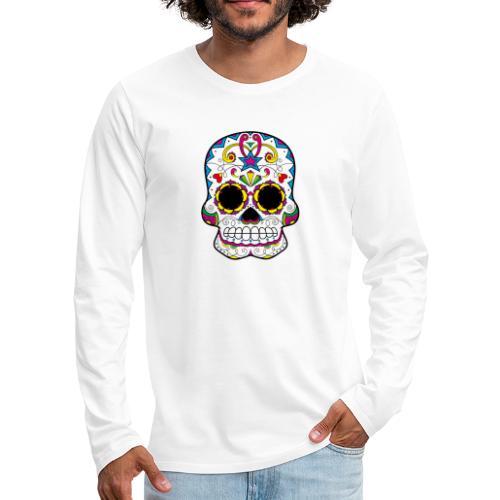 skull7 - Maglietta Premium a manica lunga da uomo