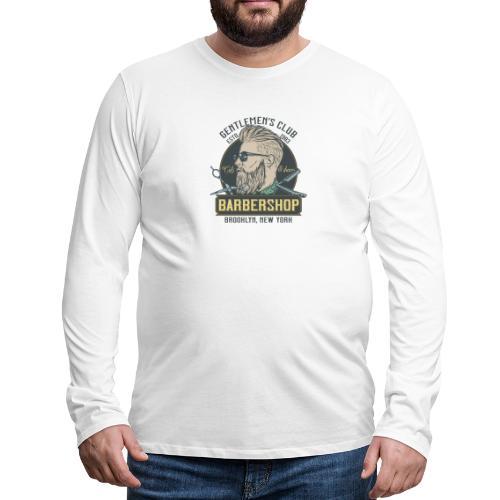 Classic barbershop font 5 - Maglietta Premium a manica lunga da uomo