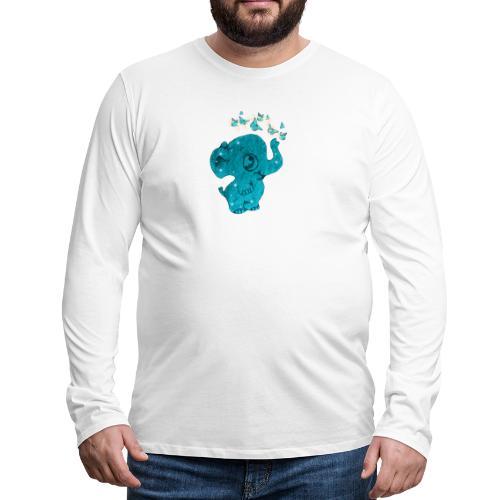 Elefante - Maglietta Premium a manica lunga da uomo