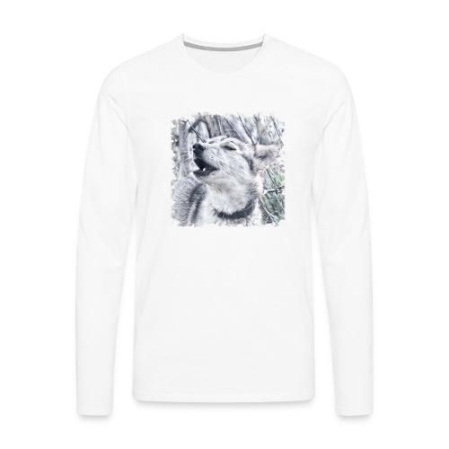 Jaulender Husky - Männer Premium Langarmshirt