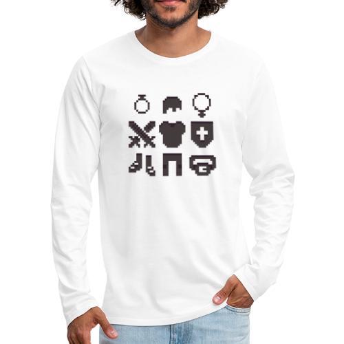 RPG Inventory Slots - Herre premium T-shirt med lange ærmer