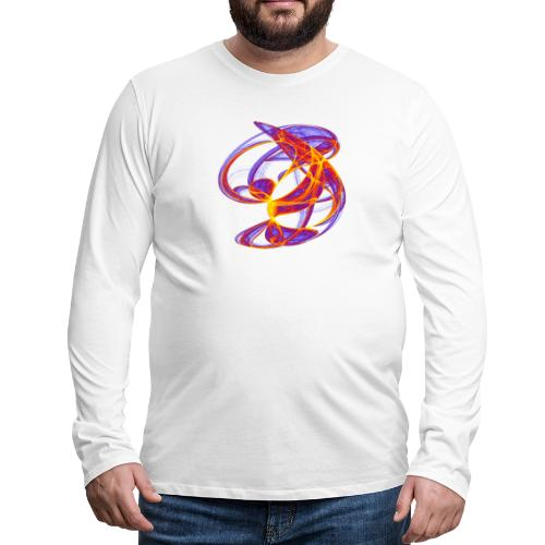Farbenspiel der Clifford-Bahnen Aquarell 7839bry - Männer Premium Langarmshirt