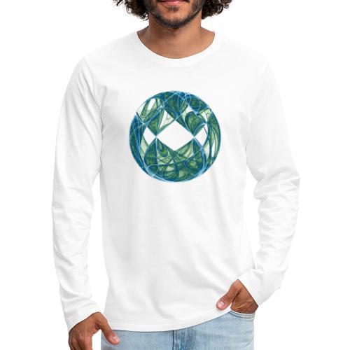 Harmonie im Ozean der Elemente 446oce - Männer Premium Langarmshirt