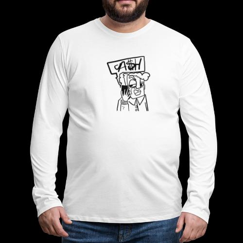 Cash on the phone - Mannen Premium shirt met lange mouwen
