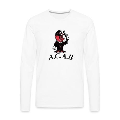 A.C.A.B cochon - T-shirt manches longues Premium Homme