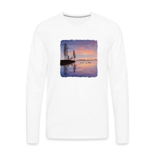 Soirée tranquille - T-shirt manches longues Premium Homme