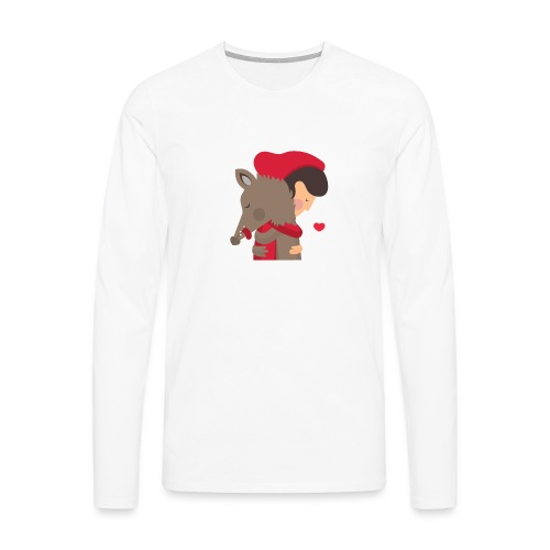 Abbracciccio-02 - Maglietta Premium a manica lunga da uomo