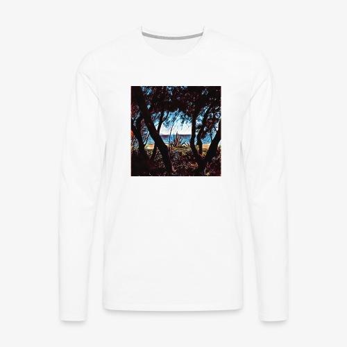 Vista mare dalla pineta - Maglietta Premium a manica lunga da uomo