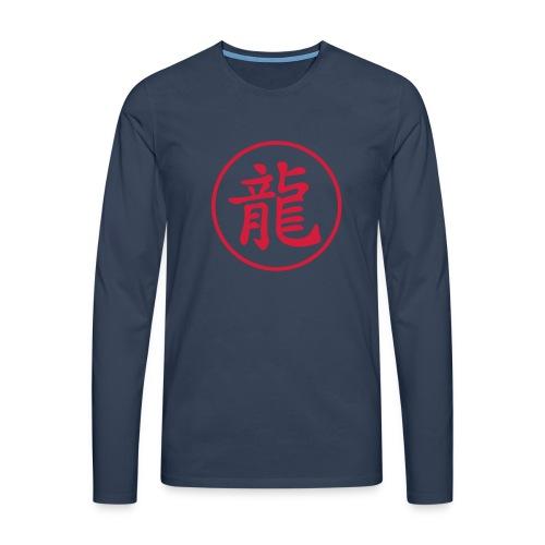 Dragon kanji - T-shirt manches longues Premium Homme
