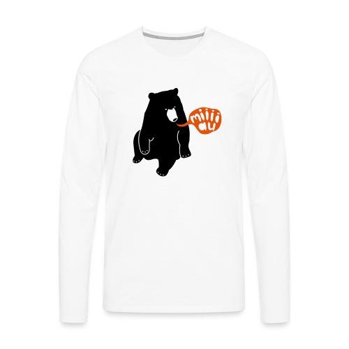 Bär sagt Miau - Männer Premium Langarmshirt