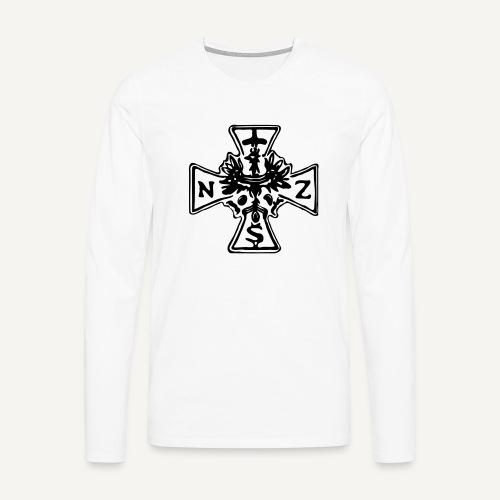 nsz1 - Koszulka męska Premium z długim rękawem