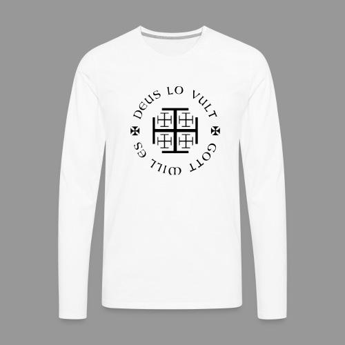 deus lo vult - Gott will es - Männer Premium Langarmshirt