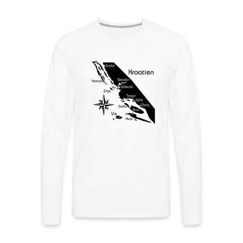 Kroatien Zadar bis Hvar - Männer Premium Langarmshirt